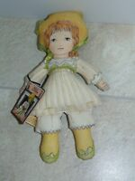 """1984 Toy Works by Valerie Polly Flinders Cloth 2 Sided 12"""" Doll Happy Sad"""