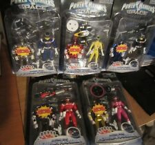 Power Rangers in Space Astro Blue Pink Red Black Yellow Bonus Figure set of 5