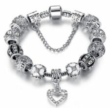 Silver Pandora Charm Bracelet & Austrian Crystals Charms - ideal Gift
