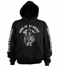 Officially Licensed Sons Of Anarchy Logo Big & Tall 3XL, 4XL, 5XL Hoodie