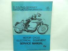 Lucas Motorcycle Service Information Manual Electrical Equipment B3176