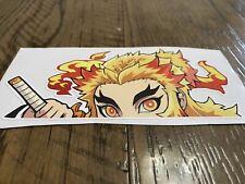 Window Peeker Demon Slayer Decal Sticker Kyojuro Rengoku Anime