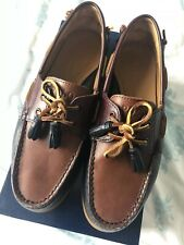 """Ralph Lauren """"Merton"""" Leather Boat/Deck Shoes Boxed UK Size 8 Loafer"""