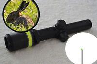 1.5-6x24 Fiber Optic Scope Green Triangle illuminated Reticle +20mm Mounts Stock