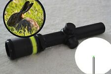 1.5-6x24 Fiber Optic Scope Green Triangle illuminated Telescopic Rifle Scope