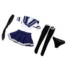 1/6 Scale Female Figure Accessories / JK School Girl Uniform Set, Blue White