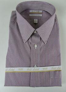 Roundtree & Yorke Gold Label Non Iron EZ Wash Pinpoint Striped Dress Shirt  NWT