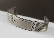 Vintage LAMP K18 GP Stainless Steel 19mm Mesh Bracelet w/ Wet Suit Extension