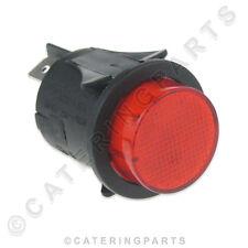 Cafetera Pavoni circular 25mm enganche en Off interruptor de la red botón rojo