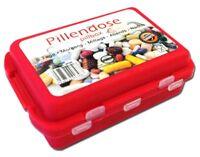 Pillendose mit Clipverschschluß mit 10 Fächern | Pillenbox | Medikamentenbox