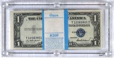1935-F $1 100-Consecutive 2 Stars Dollar Bill Silver Certificate Sequential