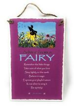 """Advice from a Fairy Inspirational 5.5""""x8.5"""" Hanging Wood Plaque Sign for Wall"""