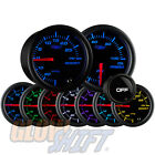 GLOWSHIFT 52mm SMOKED BOOST & OIL PRESSURE PSI GAUGE KIT W. 7 LED COLORS