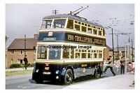 pt8595 - Bradford Trolleybus 687 , CAK 687 at Holme Wood - photograph 6x4