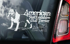 American Staffordshire Bull Terrier Car Sticker, Dog Window Sign Decal Gift -V08