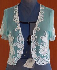 NWT $120 Womens QUEENSPARK Sheer Top M 10 Size 12 - 14 Blouse Shirt Jacket NEW