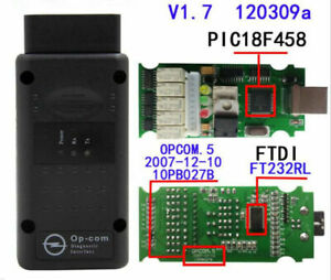 V1.7 2014V Can OBD2 Adapter OP-Com Firmware for Opel Single Layer PCB Software