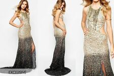 A STAR IS BORN EXCLUSIVE LUXE EMBELLISHED MAXI DRESS BEADED SEQUINS UK 14 US 10
