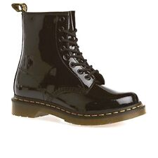 Anfibio DR Martens 1460 W 11821011 SMOOTH PATENT LAMPER Vernice Nero Nuovo TG 40