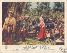 GARY COOPER MARI ALDON DISTANT DRUMS 1951 LOBBY CARD