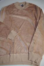 Herren Nicki 80er Pullover NOS Gr. 46 True VINTAGE Samt Sweater beige 80s