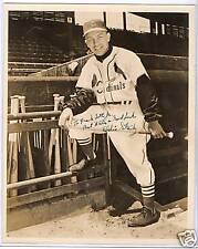 Eddie Stanky Autographed St Louis Cardinals 8 X 10