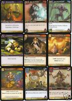 World of WarCraft 2006 TCG 9 Card Lot HEROES OF AZEROTH