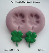 Four Leaf Clover Flower Silicone Mould, Sugarcraft, Cuo Cake  Card Topper, Fimo