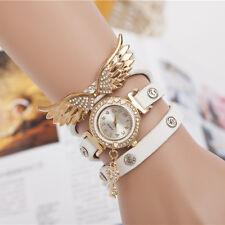 New Angel Wing Watch Gold Strap Women Watch Bracelet Rhinestone Wristwatch