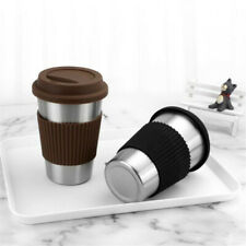 Portable Travel Coffee Mug With Lid Flask Mugs Stainless Steel Cup Bottle MH