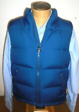 Kent & Curwen Slate Blue Down Vest NWT XL $495