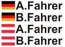 Racing  Motorsport  Aufkleber  2 X  A Fahrer  2 X  B Fahrer   +4X Flagge