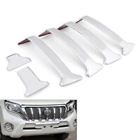 ABS Chrome Front Center Grille Cover Trim 6pcs For Toyota Prado Fj150 14-16 C/A5