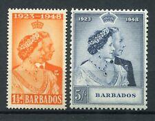 Barbados 1948 KGVI. Silver Wedding set of 2. MNH. SG 265-266.