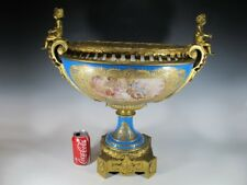 Antique French Sevres porcelain & bronze centerpiece # 11403