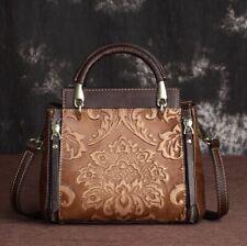 Women Genuine Cow Leather Shoulder Bag Messenger Handbag Strap Purse S Coffee