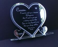 Personalised 18th 21st Friend Any Age Birthday Present Gift Heart Keepsake