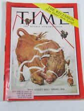 Time Magazine- March 24, 1958- Wall Street Bull: Spring, 1958 - Vintage