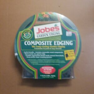 """NEW JOBES COMPOSITE EDGING 16' GREEN 3 1/2""""X16' STAKES INCLUDED"""