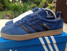 adidas Gazelle Super Size 7 Retro 80s Football Casuals BNIB Blue Black Gum