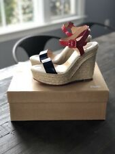 CHRISTIAN LOUBOUTIN Spachica 120 Patent Wedge Sandals Espadrilles Sz 36 NIB!