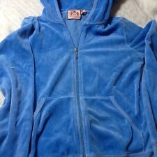Juicy Couture Velvet Hoodie. Small Jr. Blue. Zip Up.