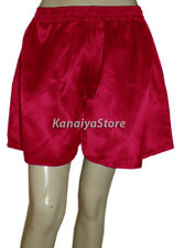 Deep Pink Adult Baby Women Satin Short Pant Split Skirts Belly Dance Bloomers NW