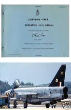 ENGLISH ELECTRIC LIGHTNING F Mk 6 RARE manuals historic RAF JET 1970's period