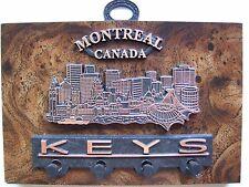 "Unique Montreal Canada Decorative Souvenir 4 Key Hook Holder Wall Decor 6"" X 4"""