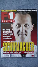 F1 Racing Magazine for the Month of November 2008. Excellent Condition