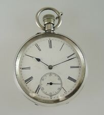 Solid silver gents pocket watch. Working c1890. NO RESERVE