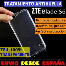FUNDA TPU DE GEL SILICONA 100% TRANSPARENTE PARA ZTE BLADE S6 CARCASA PLASTICO