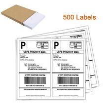 500 Half Sheet Shipping Labels 85x55 Self Adhesive 2 Per Sheet Ebay Usps Ups