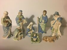 8 Piece Porcelain Nativity Set Christmas Display